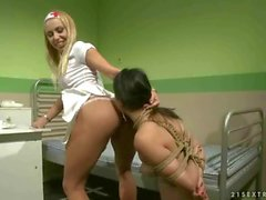 Nurse humiliating a cute girl