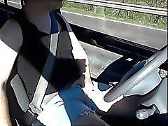 Hung Bulge Jeans In Car
