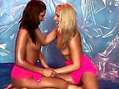 Lesbian teen babes have huge orgasms Hot gal wrestling