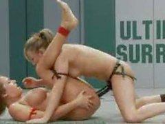 Passion vs The Cheerleader In Winner Fucks Loser Wrestling