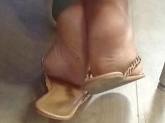 A Friend's Candid Beautiful Ebony Feet