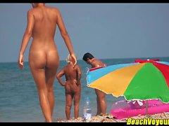 Sexy Naked Nudist beach Couples Voyeured Spycam
