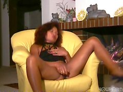 Black German girl masturbates Inferno Productions