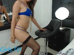 Hot Teen Romania dance small on webcam