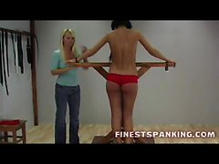 Spanked Red asses