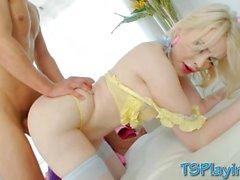 Sexy tranny Sarina Valentina ass fucked