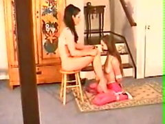 Beautiful Lesbian Girls Bondage In Pantyhose Encasement
