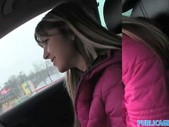 PublicAgent Tiny Russian bent over and fucked