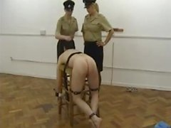 Fem Dom Jailed Stripped and Striped