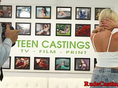 Casting tattooed cutie gets hardfucked