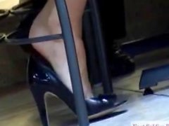 (Candid Shoeplay Barefeet) Hott!