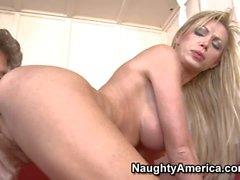 Blonde Nikki gets banged doggy style
