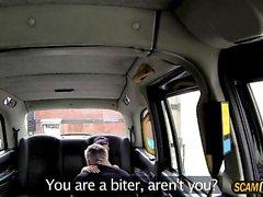 Lucky driver bangs his slutty girlfriend