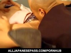 Japanese AV Model has stockings ripped and crack fucked by dudes