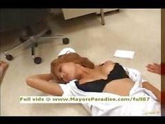 Japanese AV girl is a naughty nurse in lovely lingerie