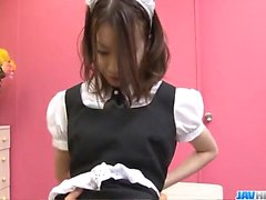 Japan maid, Nao Kojima, craves for her master dick