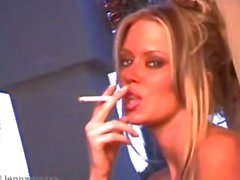 Jenna Jameson smoking on set