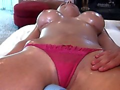 Hunk is having fun taming delightsome babe's horny pussy