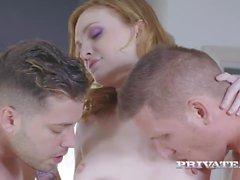 Belle Claire Dons Lingerie per DP Trio