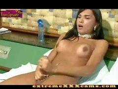 Latina Shemale Cumshot Hottie - extremexxxcams