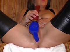 Playing with some toys and cumming, again!