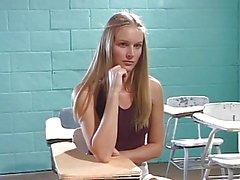 School girl Dominique throat fucked