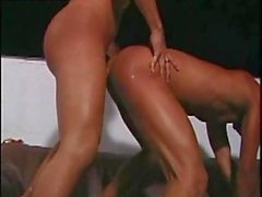 Sex with passionate tranny on balcony