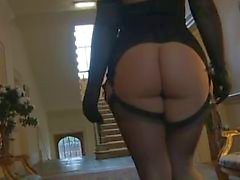Beautiful Dream with black stockings and gloves