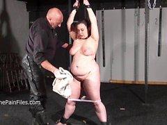 Crying fat slaveslut Nimues extreme whipping
