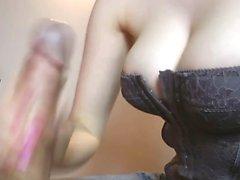 voayercams-Big tits chick givin handjob