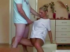hot blond girlfriend & fellow
