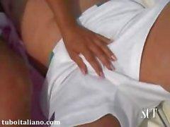 Francesca Tromba con Papa\', Italian