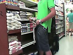 Teen twink at store masturbates for his initiation