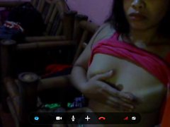 filipina mom jennibeth quisagan playing with her boobs