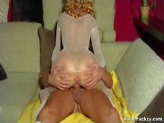 Milf In Body Stockings Seduces Young Guy