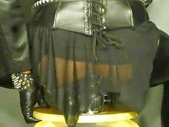 Crossdresser in latex adores pervert experiments