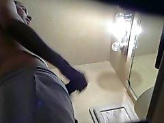 Caught My Straight Boyfriend Masturbating in the Restroom