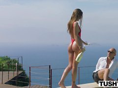 TUSHY Ibiza Model Loves to Be Gaped