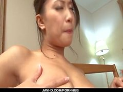 Yayoi Yanagida loves cracking her hairy vag with toys