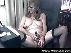 Lovely granny with glasses 4 caught mil