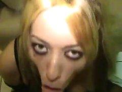 Halloween girl having a hot butt gets utilized