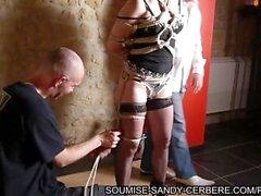 french bdsm shibari bondage hogtied rope no sex action