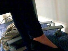 Shoe dangling