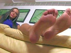 Hot feet model Alexia