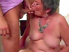 Chubby granny solo tease