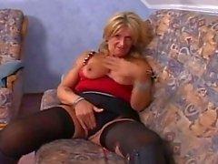 Jizz starving blonde granny still fucking hardcore at 50