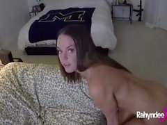 All Natural Rahyndee James POV footjob handjob blowjob
