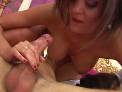 Horny brunettes collaborate to to empty their dudes cum reserves
