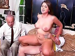 Big Boob Blonde Ivy Rose riding On Old Mans Dick