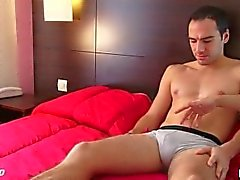 A real straight guy get wanked is huge cock by a gay guy.
